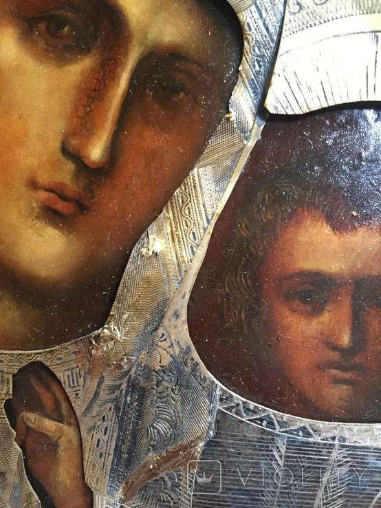 Икона Казанской Богородицы. Серебро, фото №5
