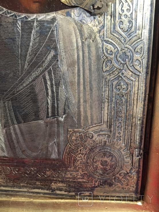 Икона Казанской Богородицы. Серебро, фото №8