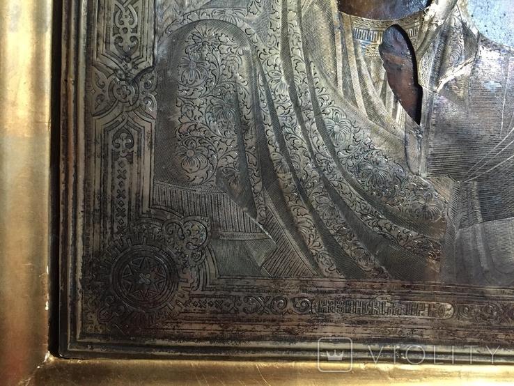 Икона Казанской Богородицы. Серебро, фото №9