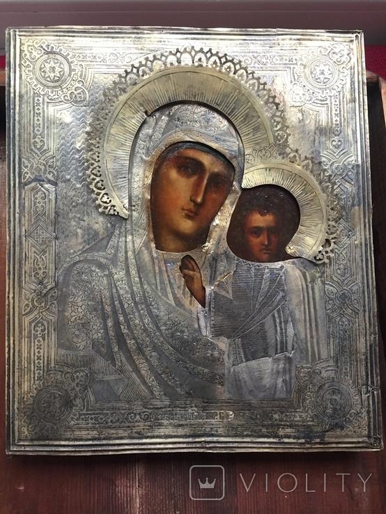Икона Казанской Богородицы. Серебро, фото №13