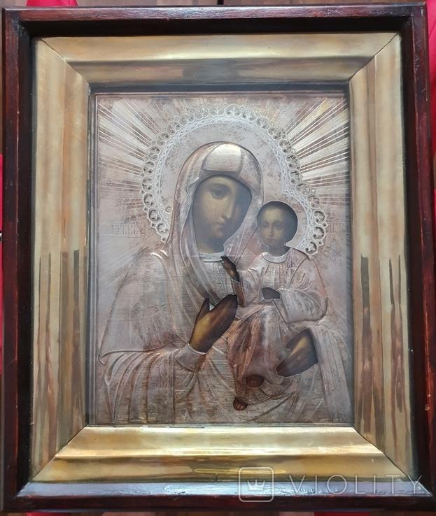 Икона. Богородица Иверская(1) Оклад серебро., фото №2