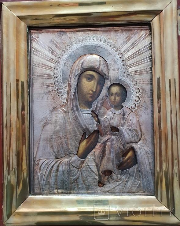 Икона. Богородица Иверская(1) Оклад серебро., фото №3