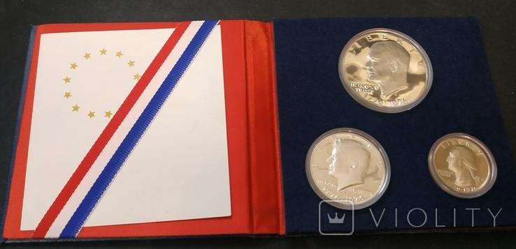 США 1976 набор ПРУФ серебро 200 лет Независимости, фото №2