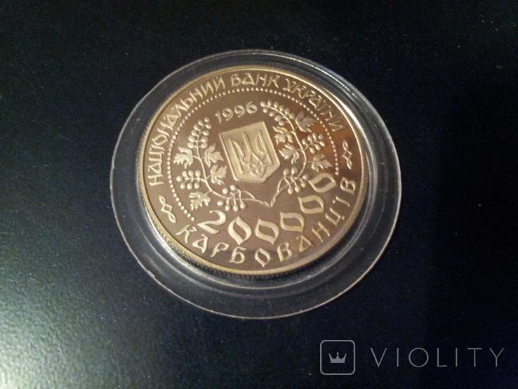 Леся Українка монета 200000 крб карбованців 1996 року, фото №3