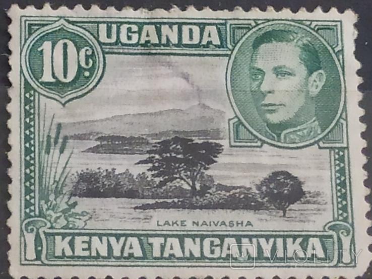 Kenya, Uganda Tanganyika sg135/a 1949 10c ''Mountain retouch'' in MNH