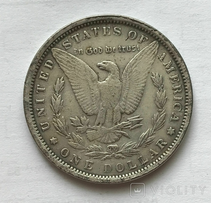 1 доллар 1896 года. Копия., фото №2