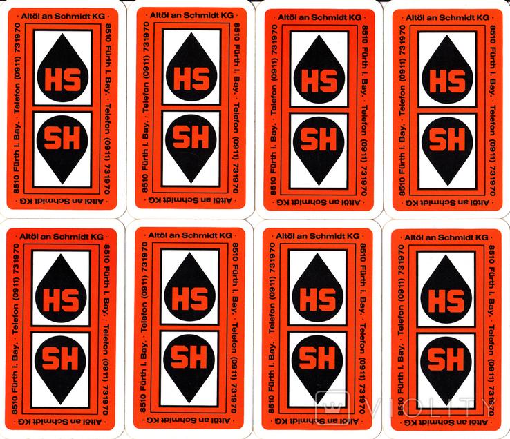 6.Карты игральные 1990-х (2-ая картинка,сокращ.колода 32 листа) ASS,Германия, фото №3