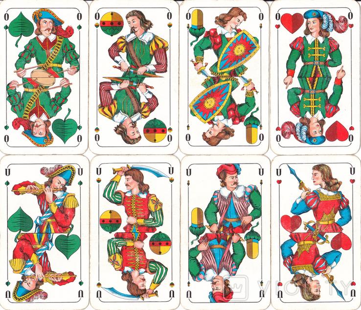 6.Карты игральные 1990-х (2-ая картинка,сокращ.колода 32 листа) ASS,Германия, фото №6