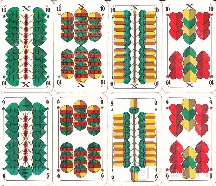 6.Карты игральные 1990-х (2-ая картинка,сокращ.колода 32 листа) ASS,Германия, фото №7