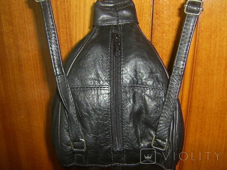 Рюкзачок кожаный маленький, фото №4