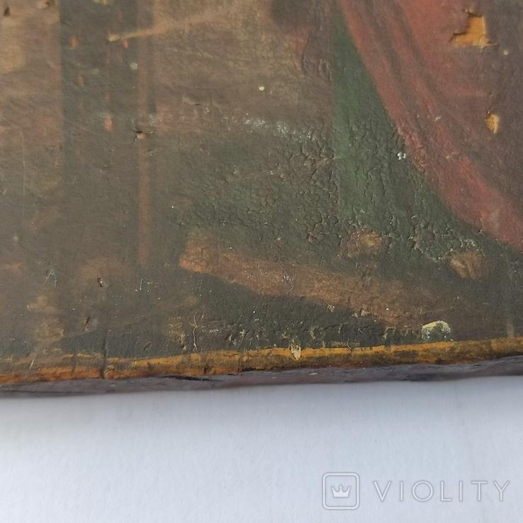 Распятие с Богородицей и Иоанном Богословом. 1858г. Подписная. Подпись художника., фото №9