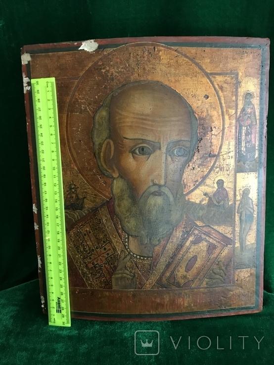 Икона Святой Николай ХIХ век., фото №9