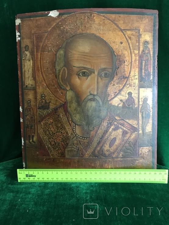 Икона Святой Николай ХIХ век., фото №10