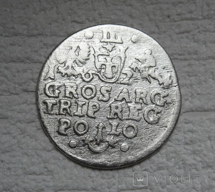 Трояк 1624 г. Сиг. ІІІ Ваза (всадник без меча), фото №4