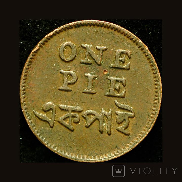 Британская Бенгалия 1 пай 1831, фото №4