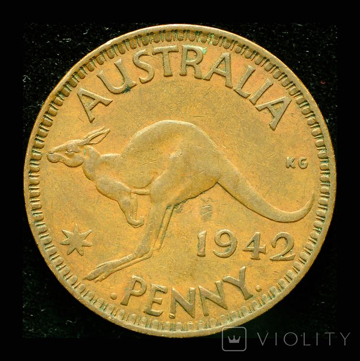 Австралия 1 пенни 1942, фото №2
