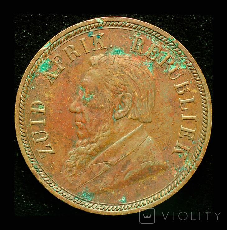 Южная Африка пенни 1898 Крюгер, фото №3