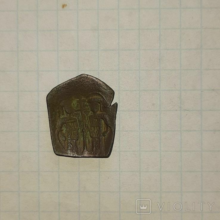 Византийская монета два правителя, фото №3