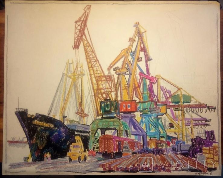 Порт Ильичевск.50-61,5см., фото №2
