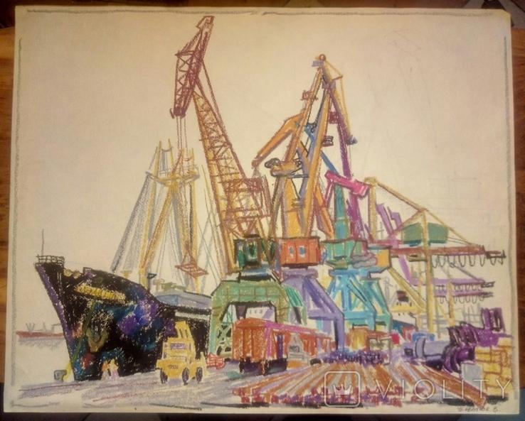 Порт Ильичевск.50-61,5см., фото №3