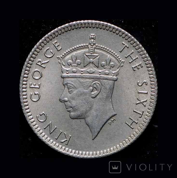 Британская Малайя 5 центов 1948, фото №2