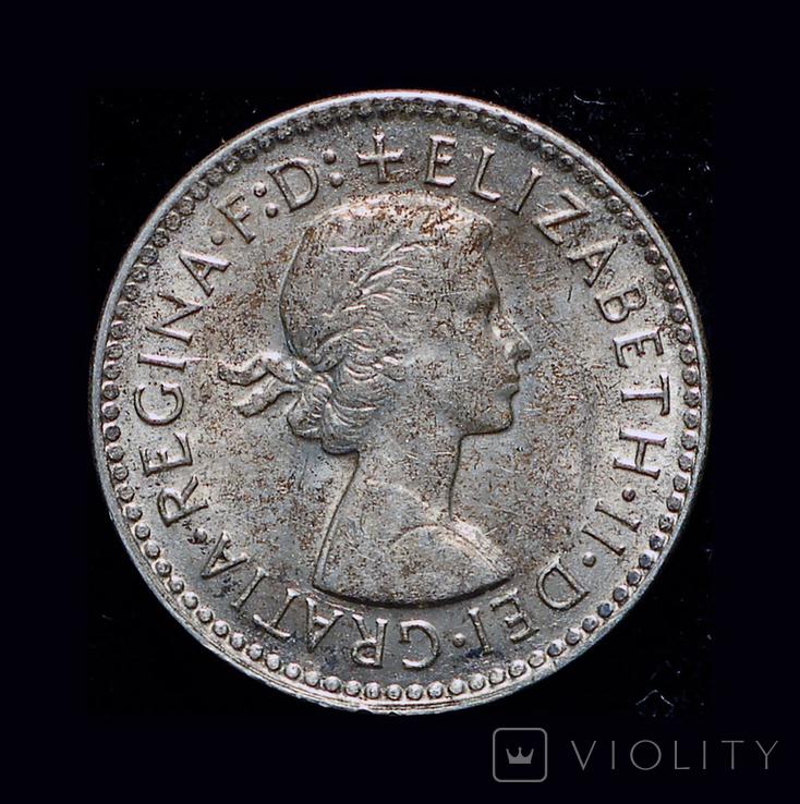 Австралия 3 пенса 1956 серебро, фото №3