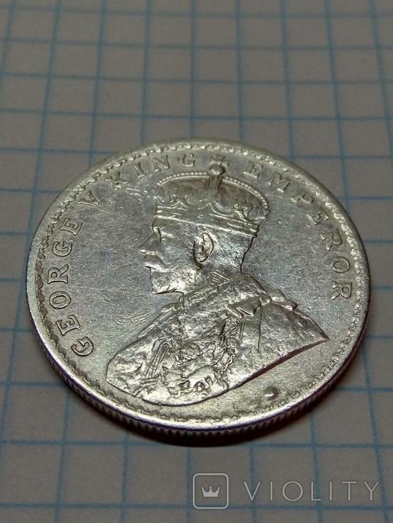 Индия - Британская, 1 рупия, 1916 год, Король Георг V, фото №4