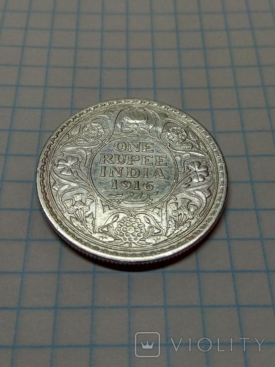 Индия - Британская, 1 рупия, 1916 год, Король Георг V, фото №6