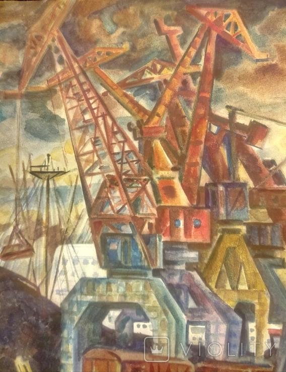 Ильичевский порт.61-78см.1978 год., фото №5
