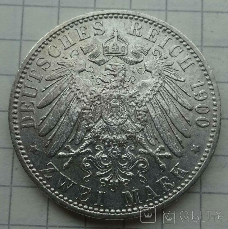2 марки, Пруссия, 1900 год., фото №5