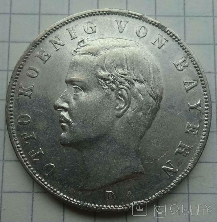 3 марки, Бавария, 1912г, фото №2