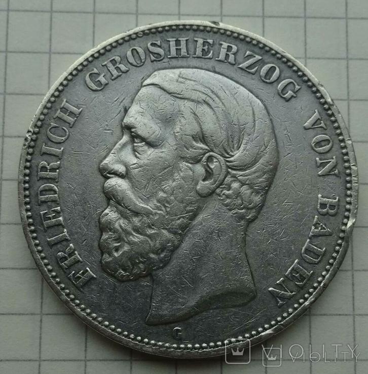 5 марок, Баден, 1893 год., фото №6