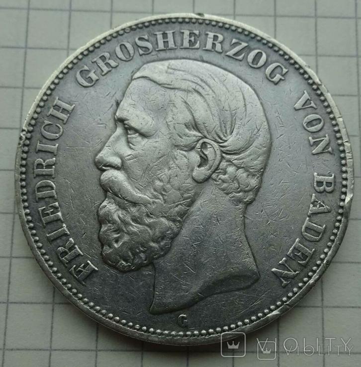 5 марок, Баден, 1893 год., фото №7