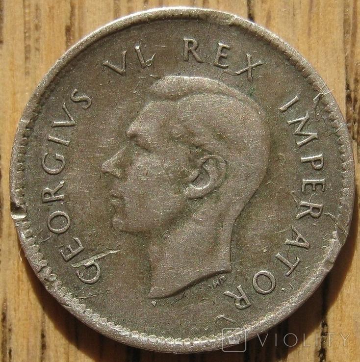 3 пенса 1938 ЮАР, фото №3