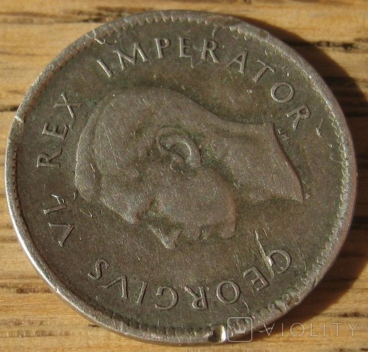 3 пенса 1938 ЮАР, фото №5