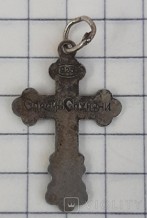 Крестик нательный 925 пр, фото №5