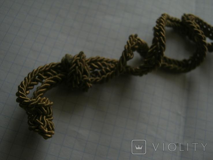 Рант, витой шнур с офицерской фуражки СССР №1, фото №4