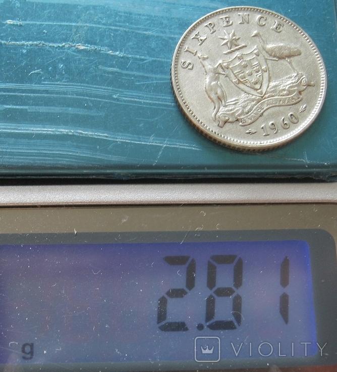 6 пенсов 1960 Австралия, фото №7