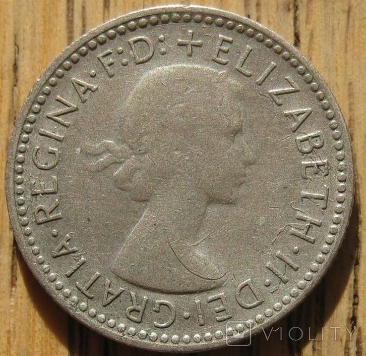6 пенсов 1955 Австралия, фото №3