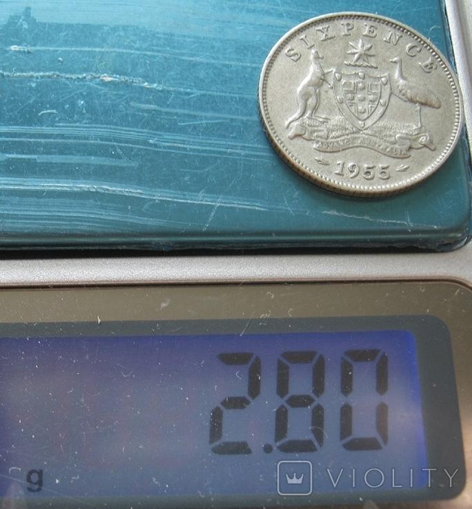 6 пенсов 1955 Австралия, фото №6