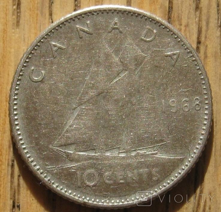 10 центов 1968 Канада, фото №2