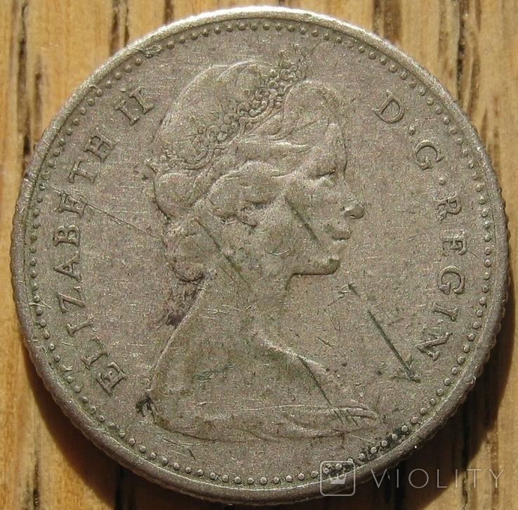 10 центов 1965 Канада, фото №3