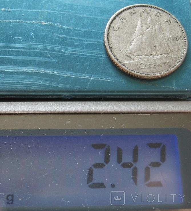 10 центов 1965 Канада, фото №7