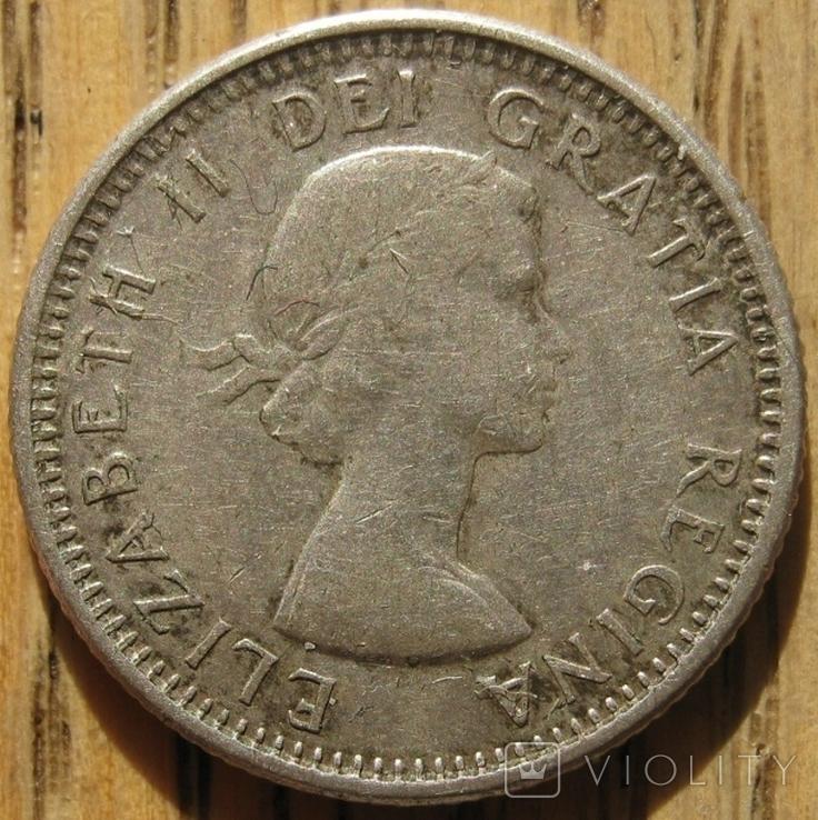 10 центов 1963 Канада, фото №3