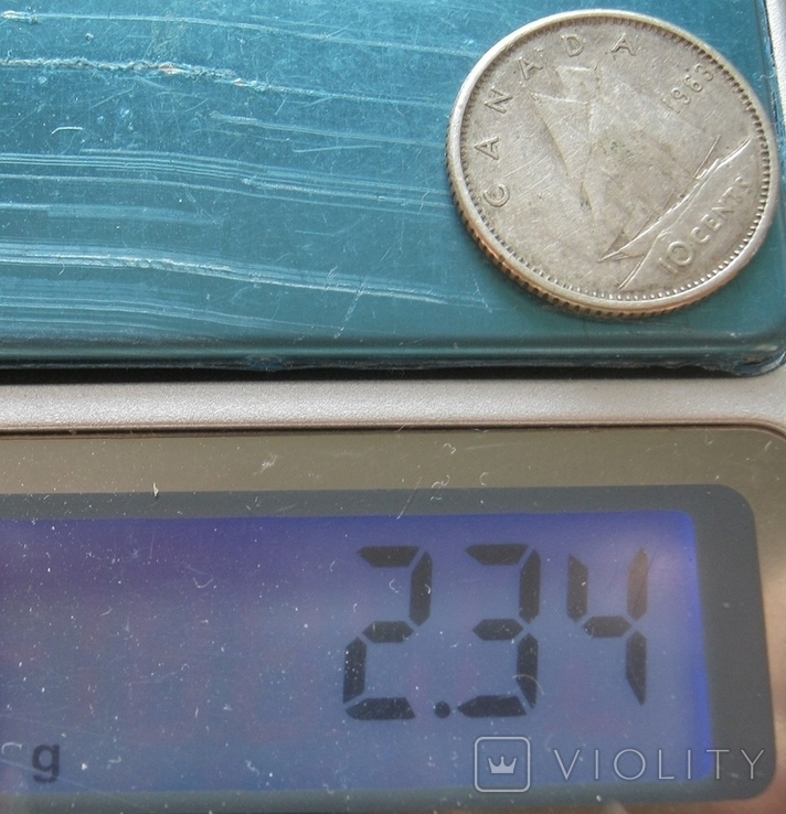 10 центов 1963 Канада, фото №7