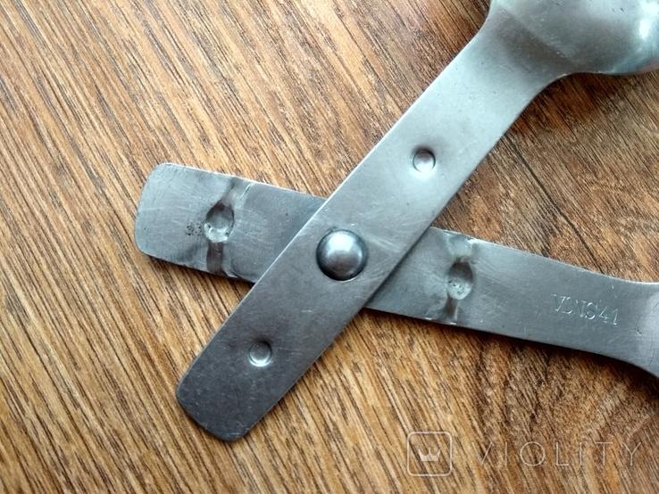 Вилка-ложка из нержавейки Вермахт, фото №9