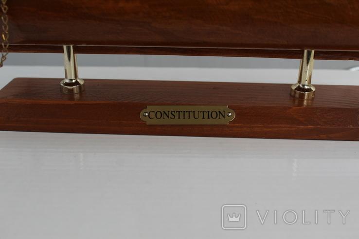 """Парусник трёхмачтовый """"Конституция"""" 45х41 см., фото №3"""