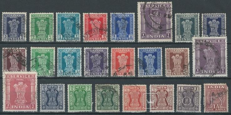 Бд03 Британские колонии. Индия 1940-50-е гг (24 служебные марки без повторов)