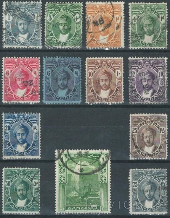Бд06 Британские колонии. Занзибар 1913-1921 (26 евро, 15 марок без повторов)