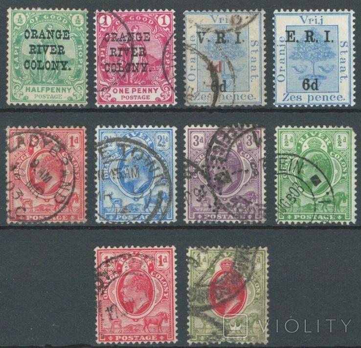 Бд09 Британские колонии. Колония Оранжевой реки 1900-1906